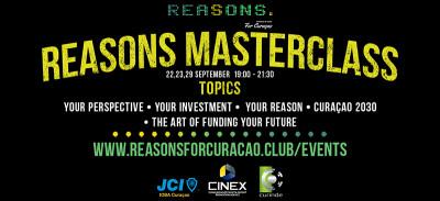 Reasons Masterclass, September 22, 23 & 29